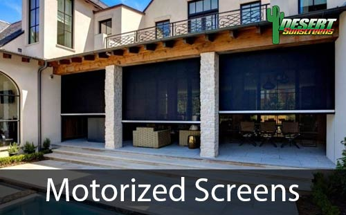 motorized window and door screens
